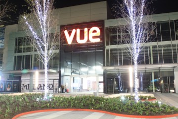 Liffey Valley Extension, Main Entrance by Night