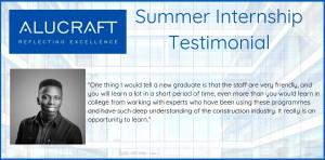 Summer Intern Testimonial - Joel Omokaro Banner V1