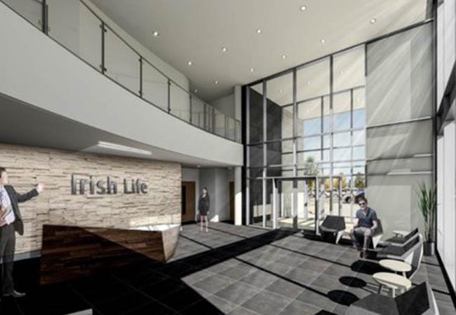 Irish life reception area
