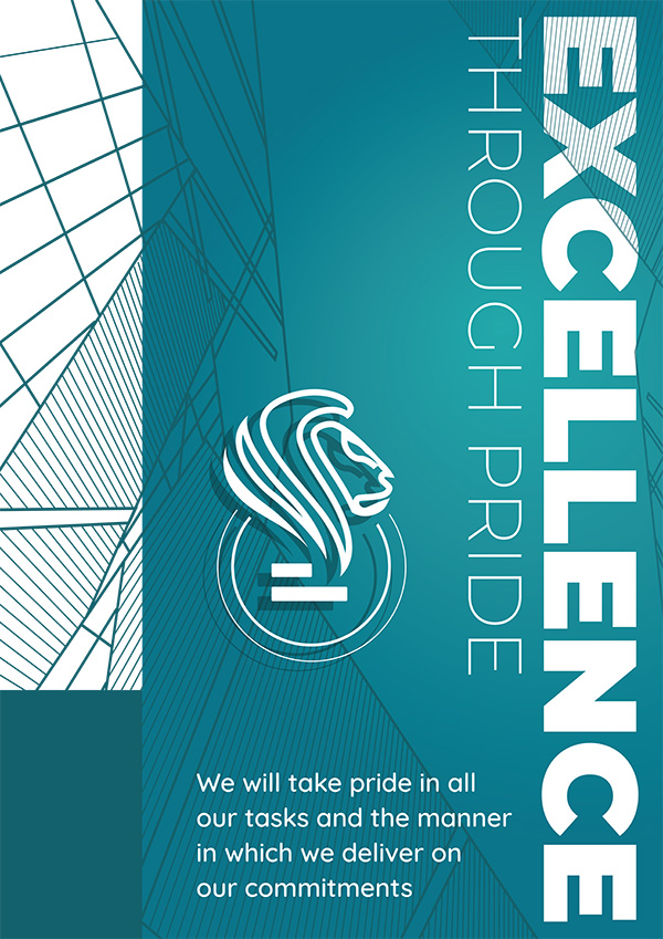 Excellence through Pride Poster